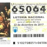 Décimo de lotería de Navidad de NEP