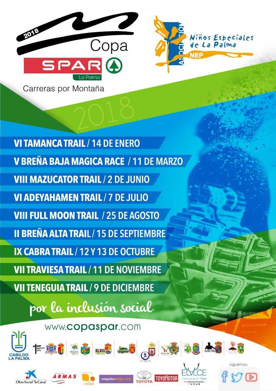 Calendario Copa Spar Pro NEP 2018