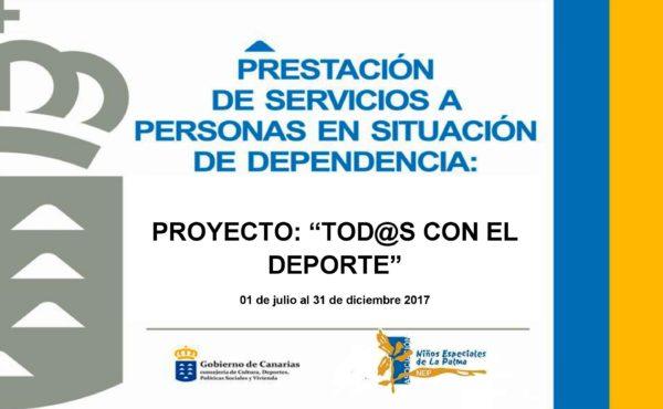 NEP. CARTEL PROY TODOS CON EL DEPORTE