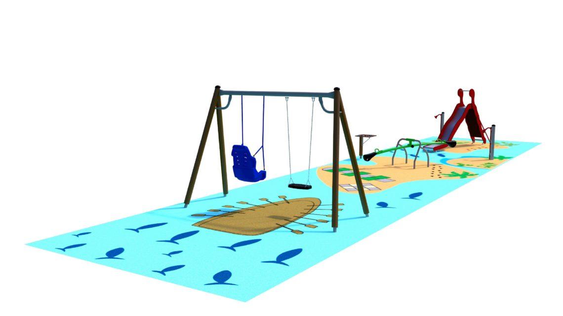 NEP y CaixaBank colaboran para construir un parque infantil adaptado