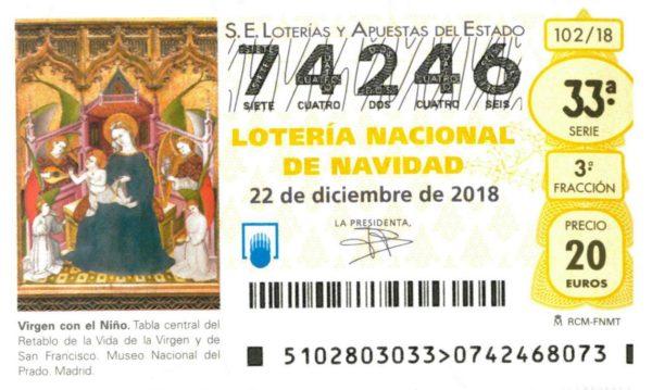 DÉCIMO LOTERIA NAVIDAD NEP 2018 74246