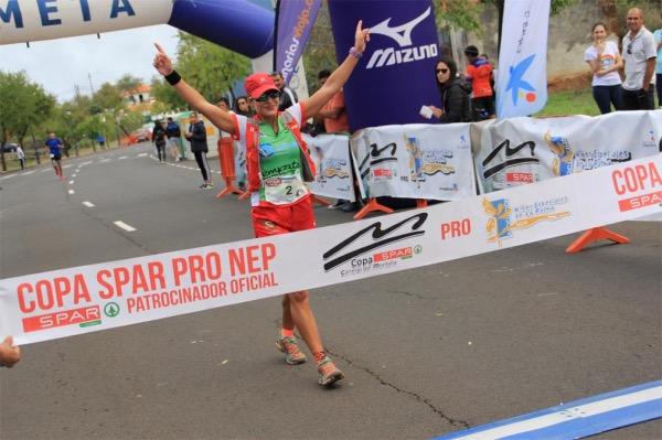 Begoña González Francisco y Víctor Concepción Rodríguez ganadores en la VII Traviesa Trail (Puntagorda)