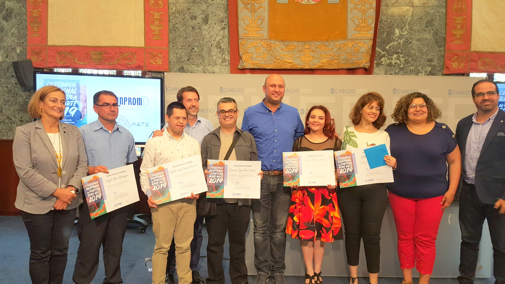 Sinpromi premia el arte y la creatividad de personas con discapacidad intelectual. Mención de honor para un participante de la Asoc. NEP