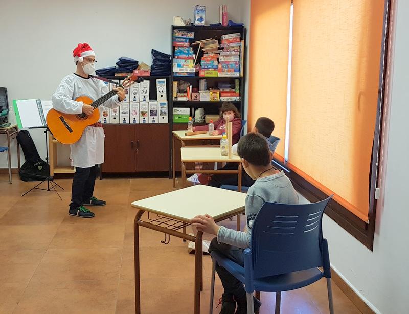 Sesiones de Musicoterapia en la Asociación NEP