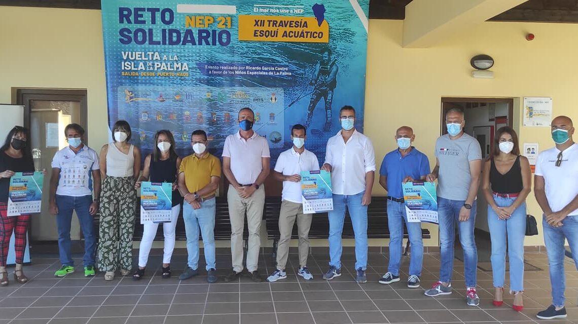 Nuevo Reto Solidario a beneficio de NEP: XII Travesía Esquí Acuático alrededor de La Palma
