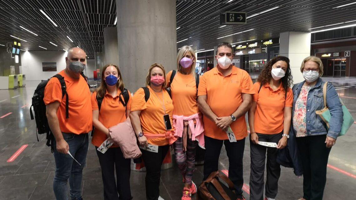 Fisioterapia solidaria para niños afectados por el volcán de La Palma